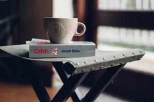 一人でコーヒー