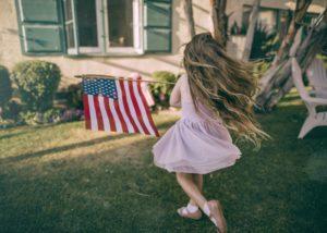 アメリカの少女